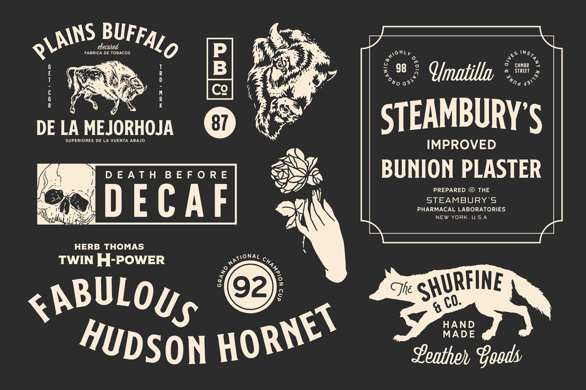 S&S Nickson Font Bundles By Spencer & Sons Co