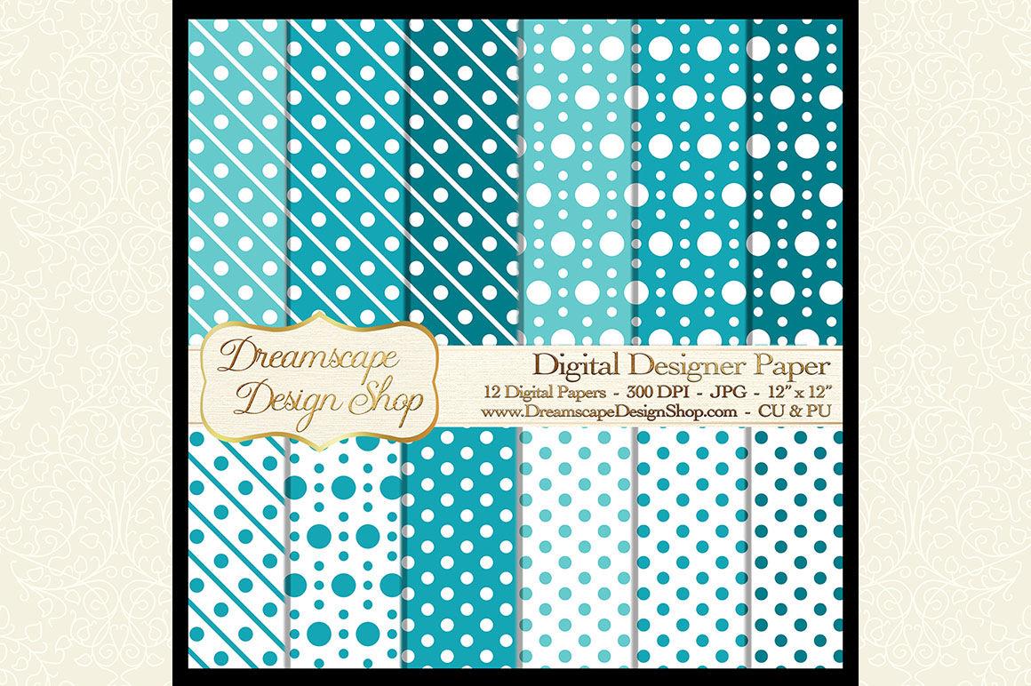 Digital Designer Paper Teal And White 12 Jpg Images At 300 Dpi