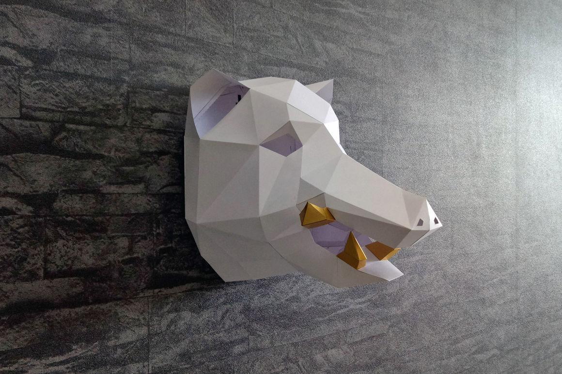 DIY Boar Head Trophy - 3d papercraft By PAPER amaze