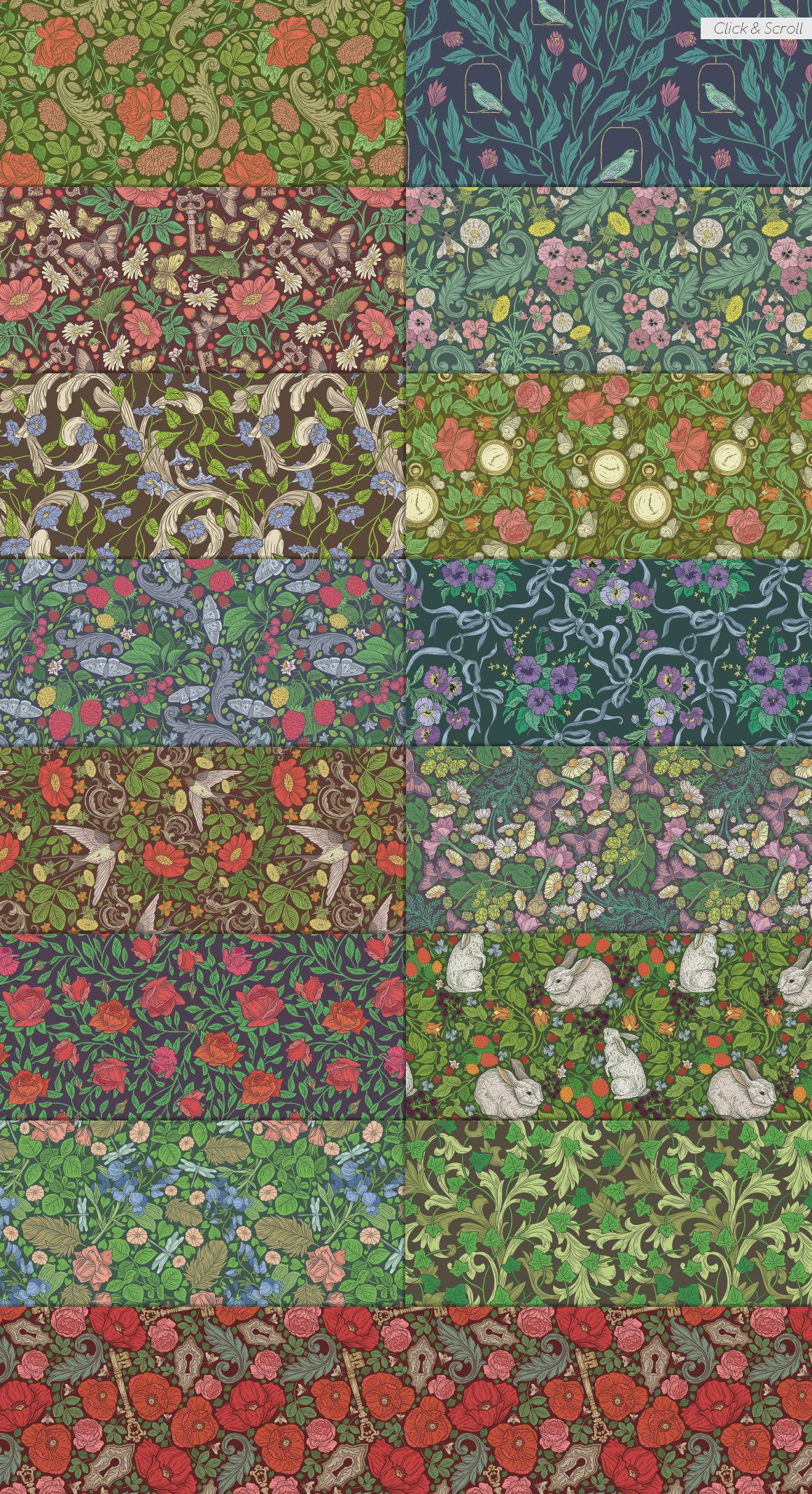 English Backyard Patterns By Pinata Thehungryjpeg Com