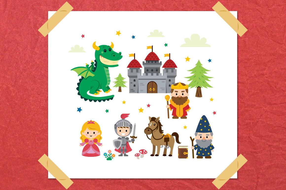 Fantasy Fairy Tale Clipart Kit By Manuel Corsi Thehungryjpeg Com