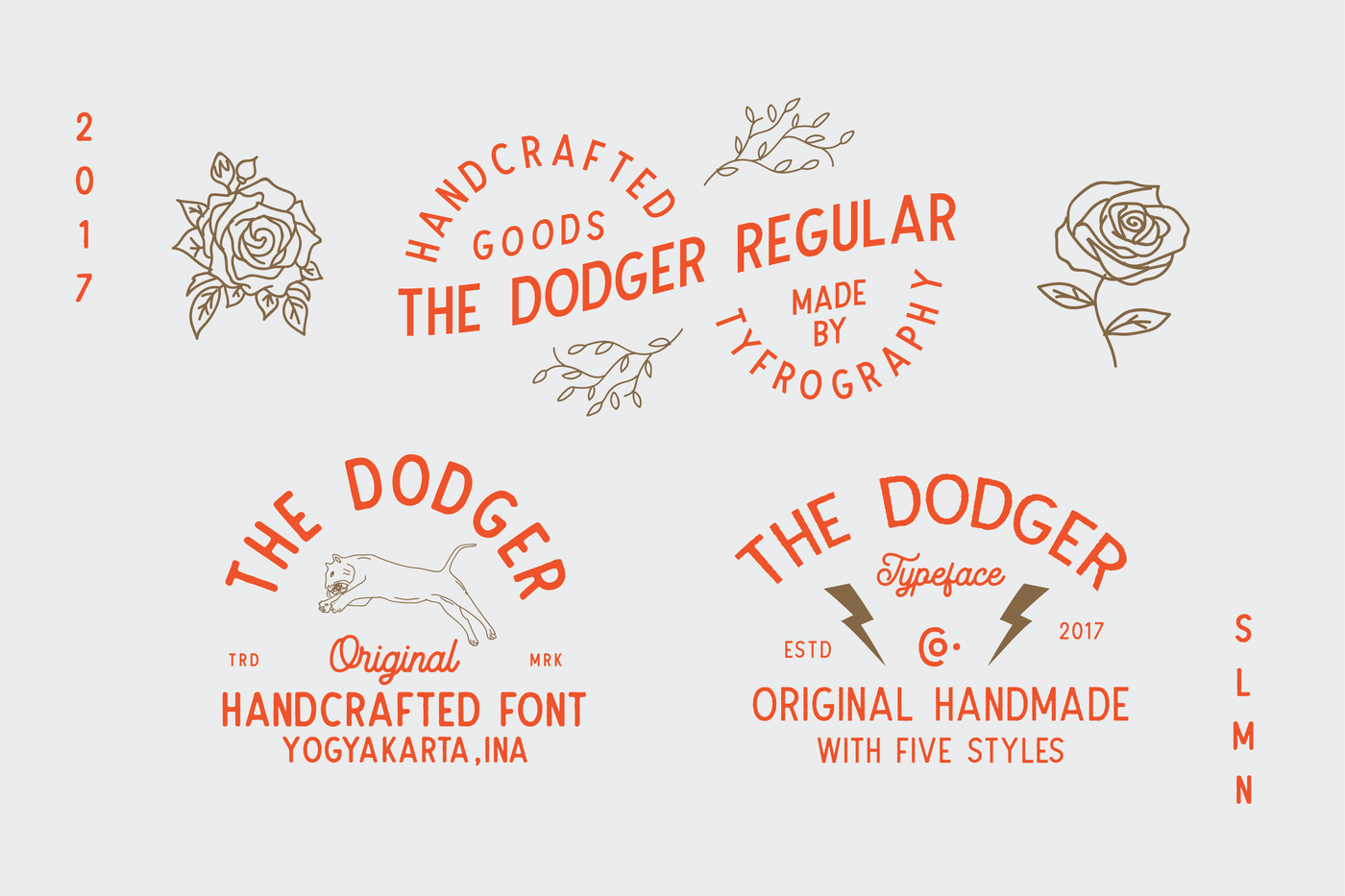 The Dodger Typeface (11 Fonts) + EXTRAS By Tyfrography