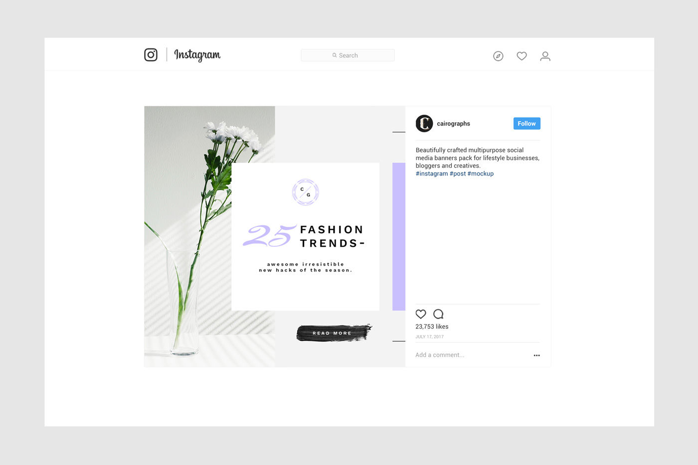 Download Instagram Mockup Psd 2017 Yellowimages