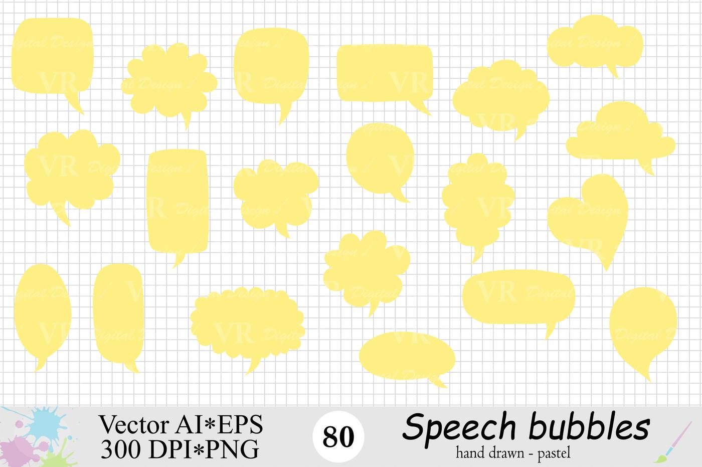 Speech Bubbles Clipart Chat Bubbles Pastel Text Bubbles