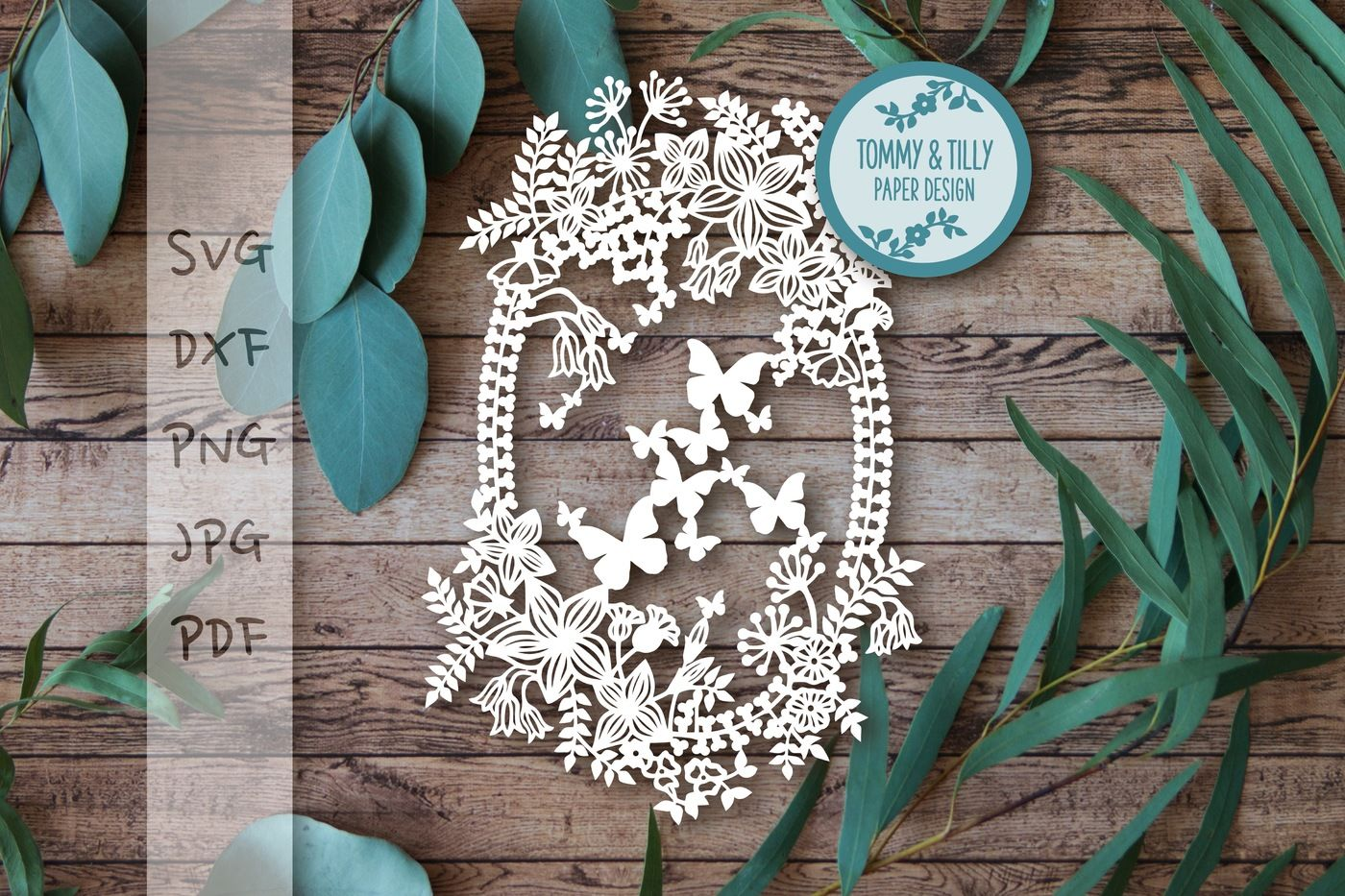 Spring Garland Svg Dxf Png Pdf Jpg By Tommy And Tilly Design