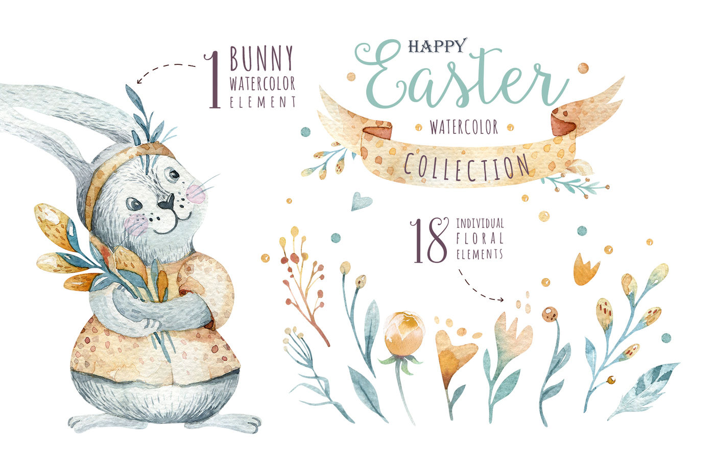 Easter Cute Bunny Ii By Peace Shop Thehungryjpeg Com