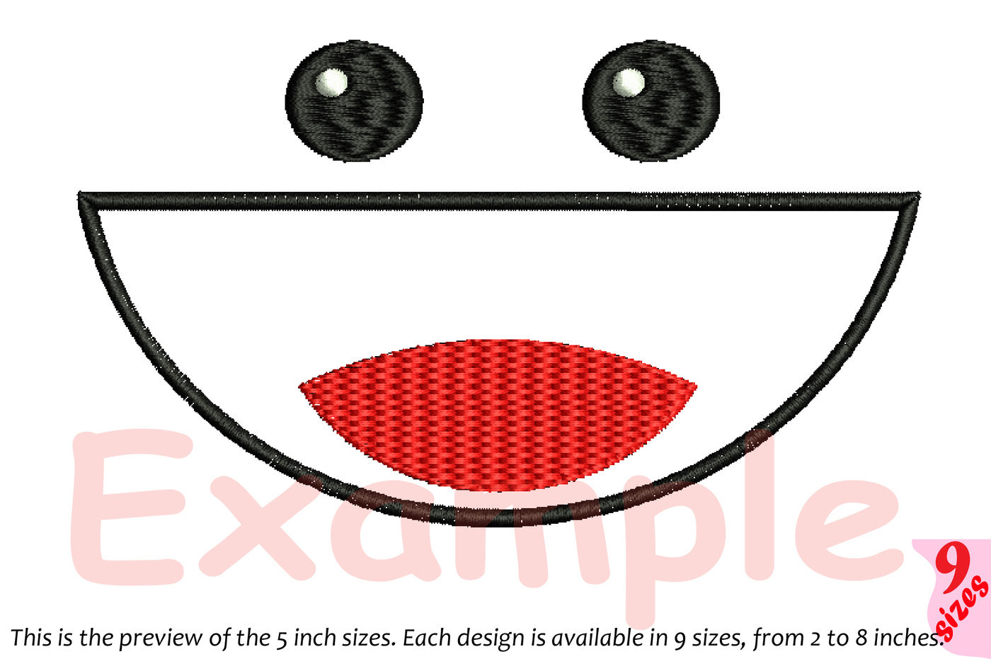 Cute Emoji Embroidery Design Emoticons Smile Kawaii Expression