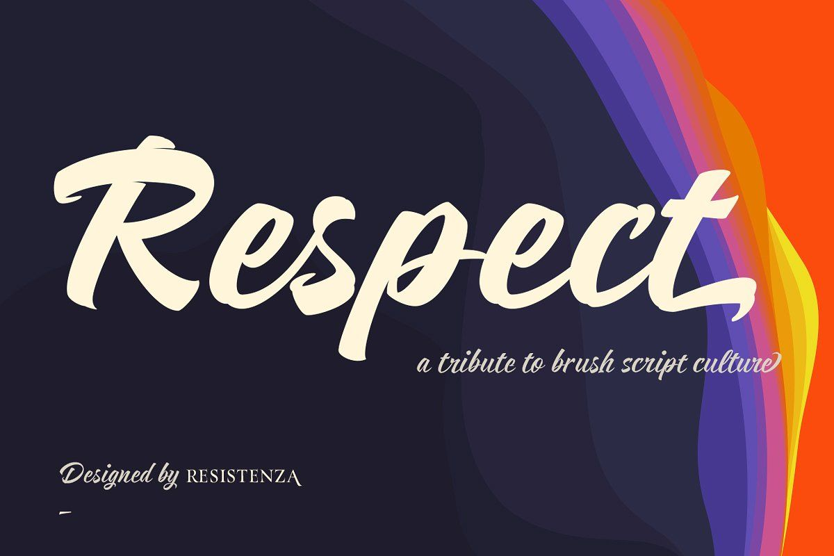 Respect Family 4 Fonts By Resistenza Type Foundry