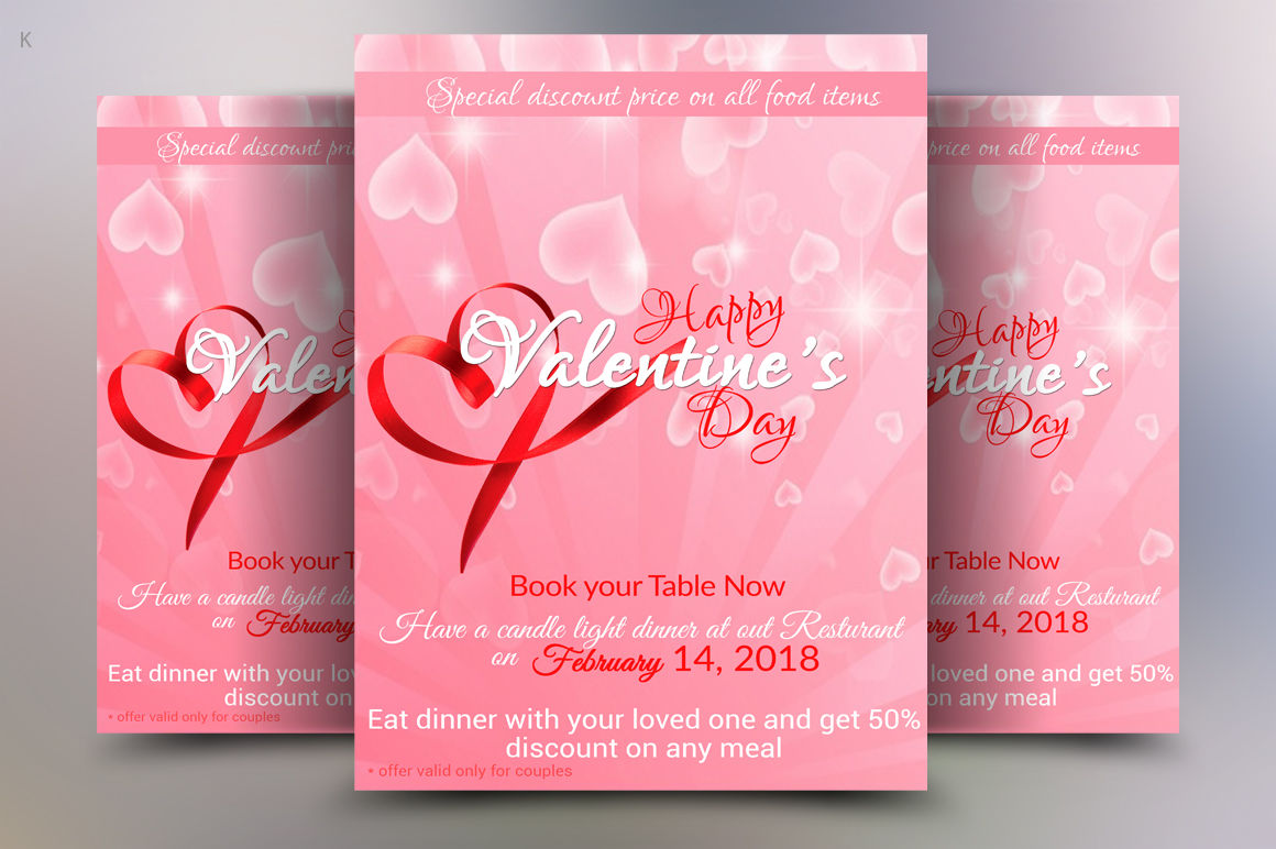 Valentine S Day Flyer Template By Ayme Designs Thehungryjpeg Com