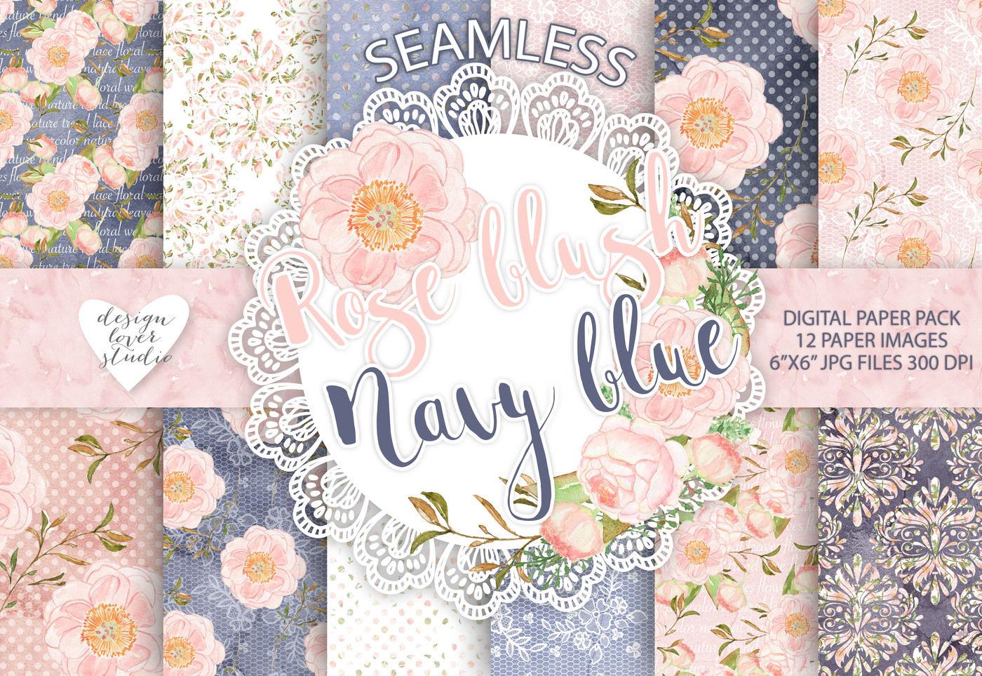 Watercolor Peony Flowers Digital Paper Flower Background Floral
