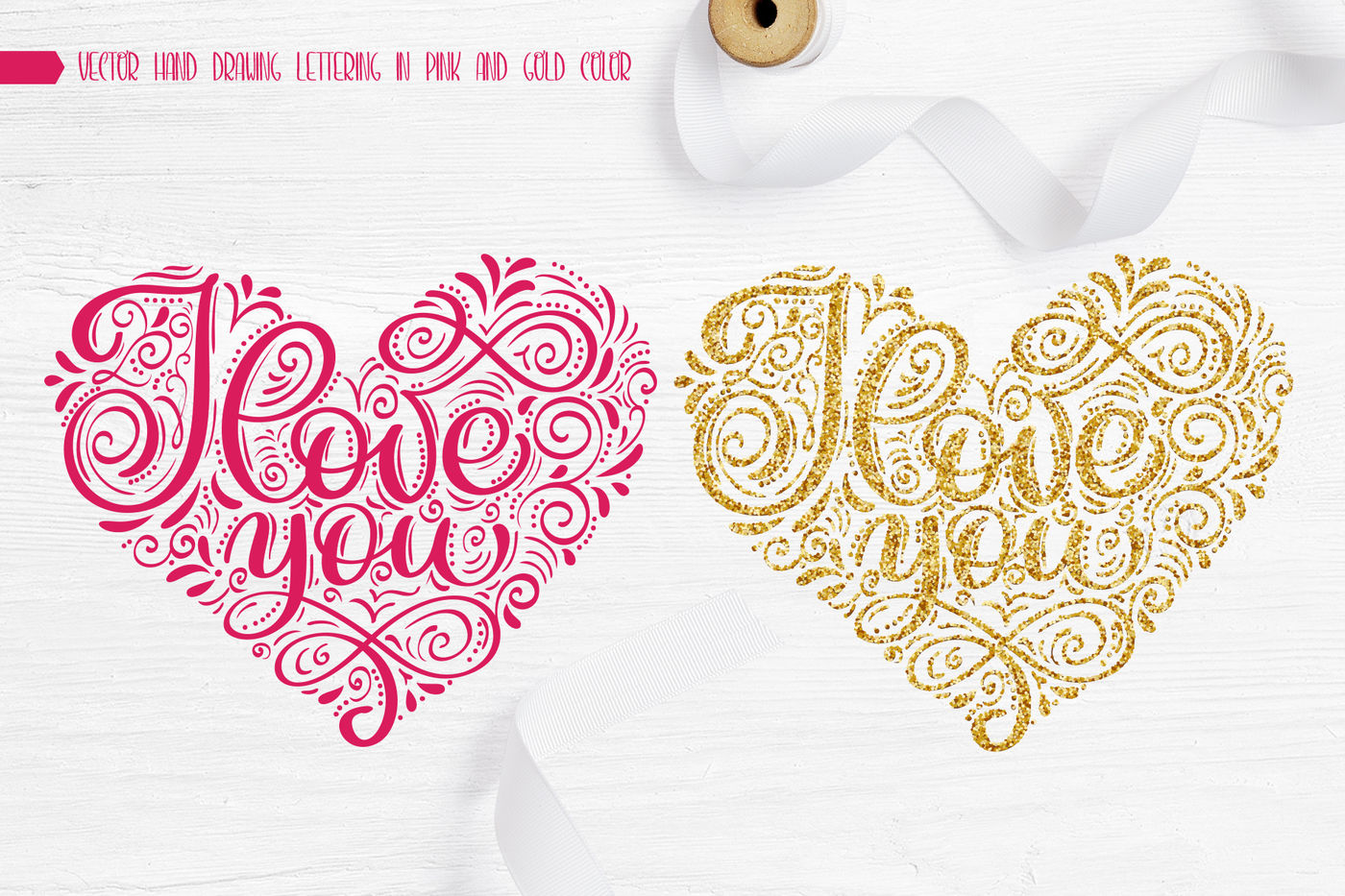 I Love You Vector Valentine Quote By Happy Letters Thehungryjpeg Com