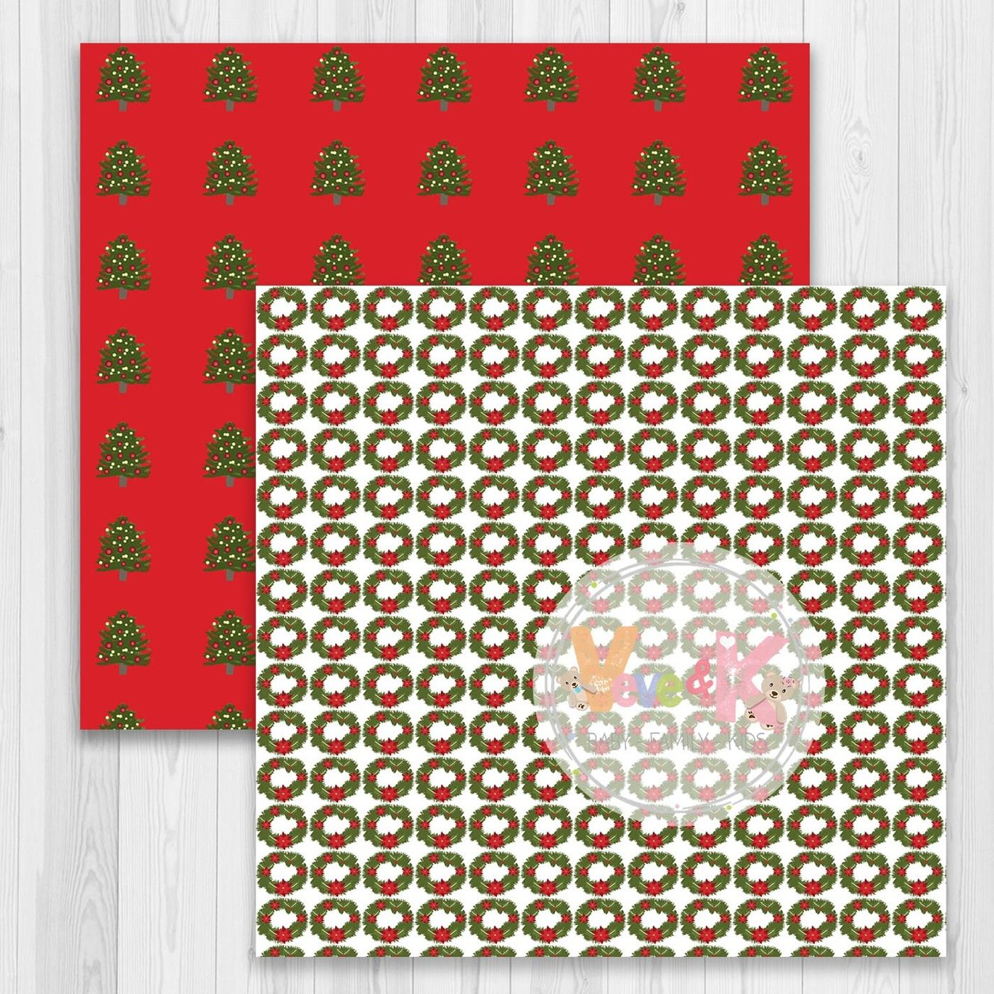 Christmas Tree Clipart Christmas Digital Papers By