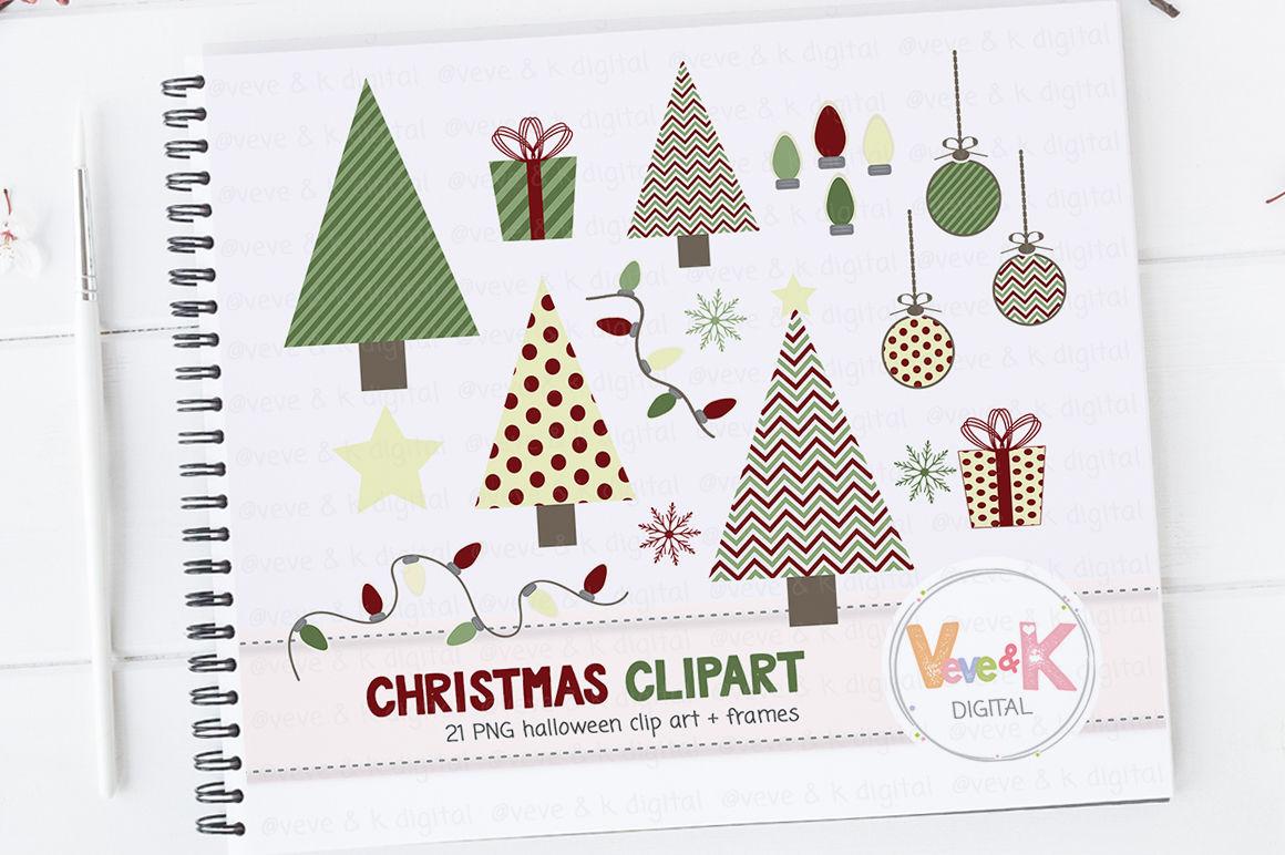 Christmas Clipart Pack Christmas Tree Clipart By Veveandkdigital
