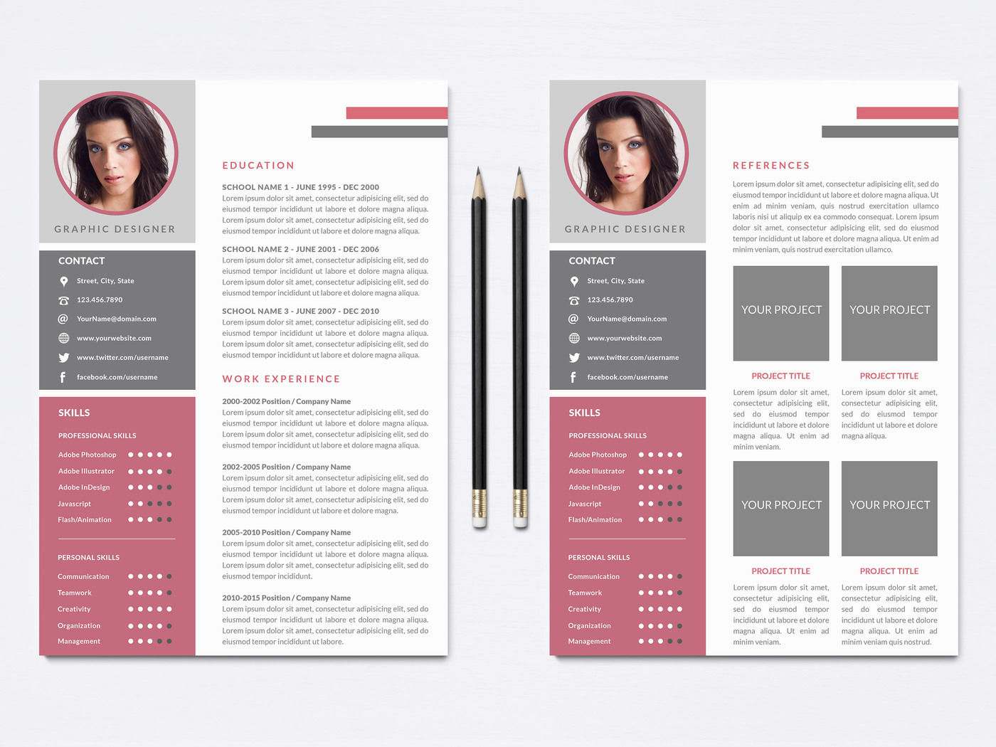 Resume Template For Photoshop By Nm Design Studio