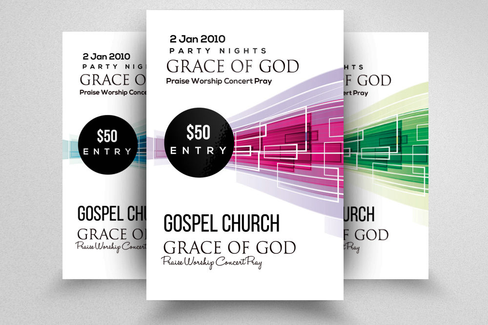 Praise and Worship Concert Flyer By Designhub
