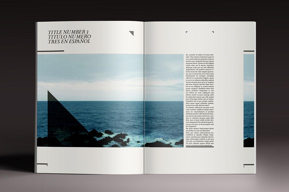 Elegant Magazine Indesign Template By Luuqas Design
