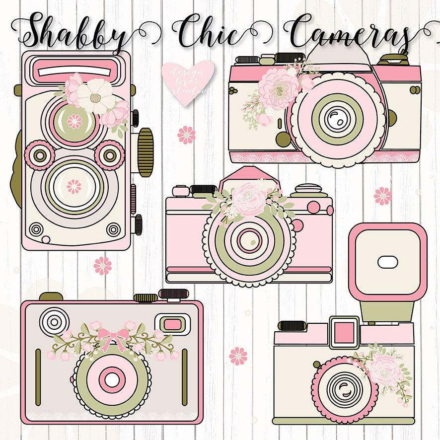Camera wedding. Premium flower rustic cameras