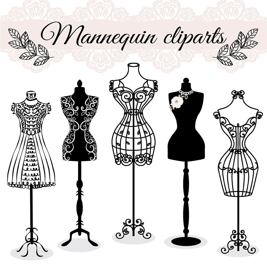 Vector Hand Draw Mannequin Fashion Dress Forms Clipart Tailors Dummy Sewing Clipart By Designloverstudio Thehungryjpeg Com