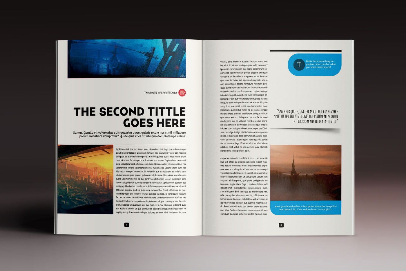 Design Magazine 5 Indesign Template By Luuqas Design