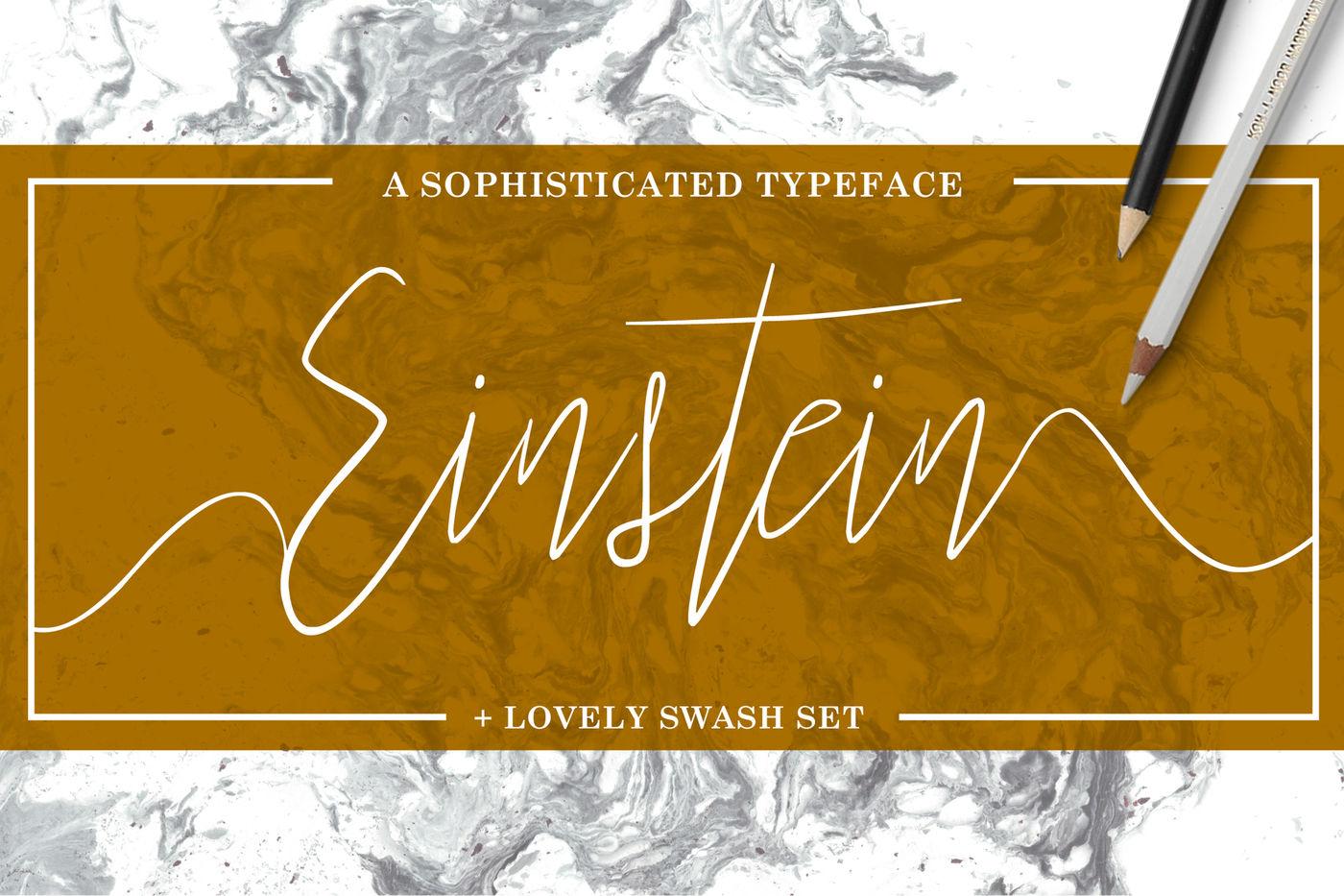 Einstein Font Bonus By Flycatcher Design Thehungryjpeg Com