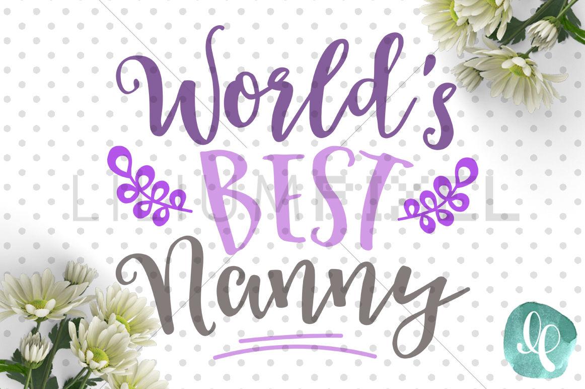World S Best Nanny By Lilium Pixel Svg Thehungryjpeg Com