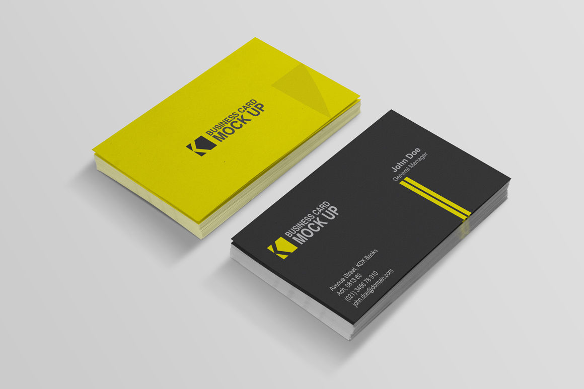 Download Realistic Business Card Mockup Psd Yellowimages