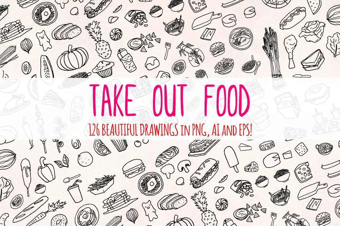 120 More Food Illustrations The Kitchen Part 2 Vector Bundle
