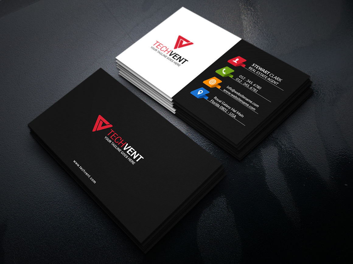 Creative Black Business Card By Graphicpick Thehungryjpeg Com