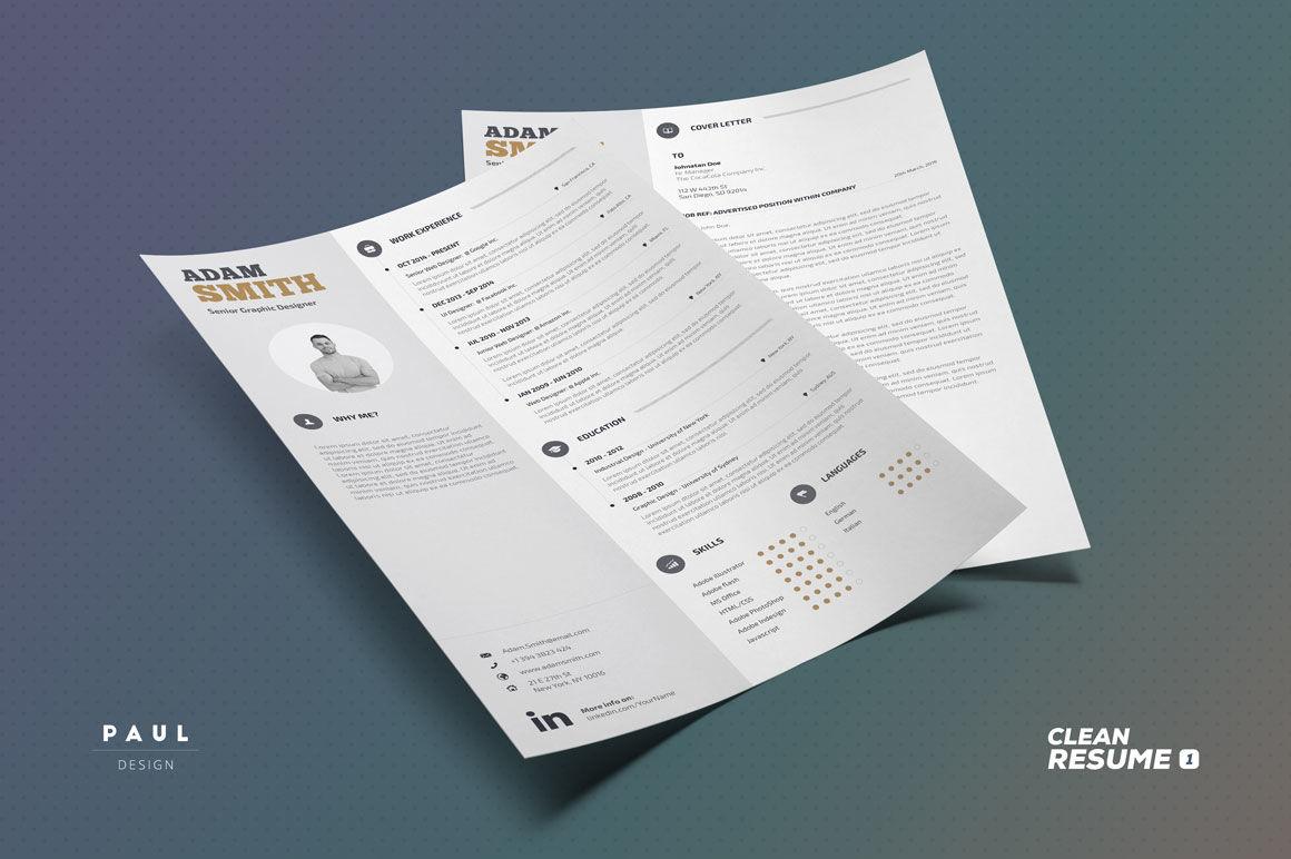clean resume  cv vol 1