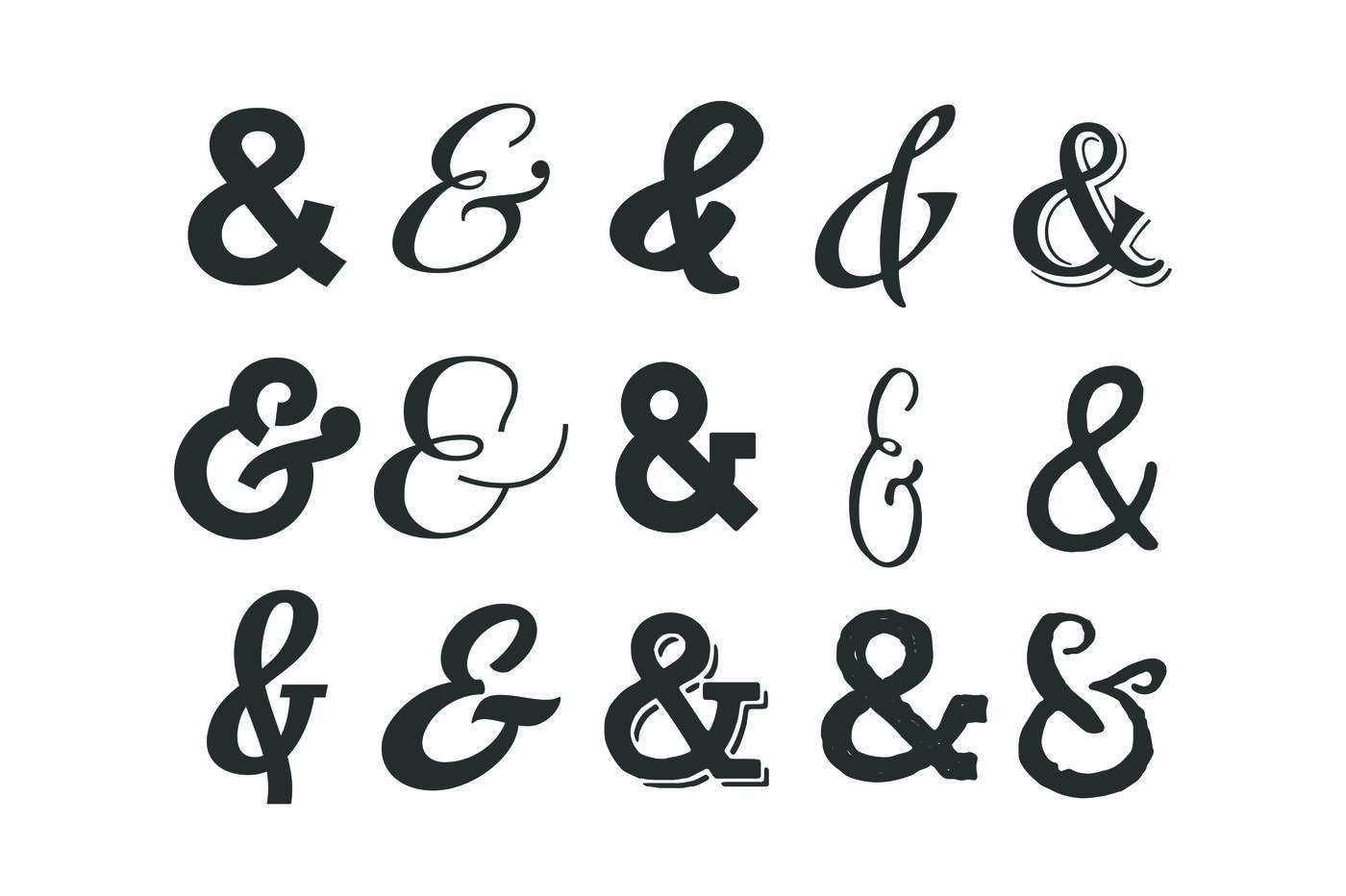 Ampersands For Crafters By Brandi Lea Designs Thehungryjpeg Com