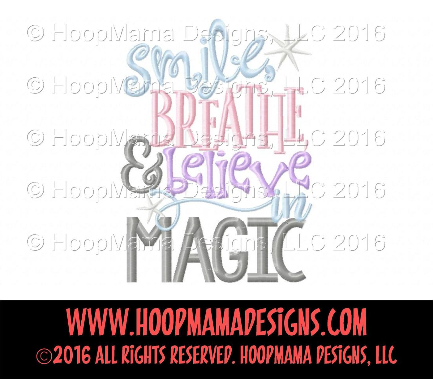Smile Breathe And Believe In Magic By Hoopmama Designs Thehungryjpeg Com