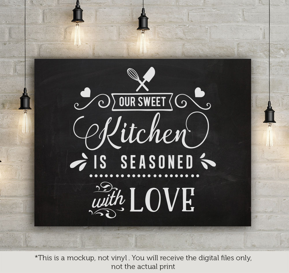 Our Sweet Kitchen Is Seasoned With Love Svg By Blackcatssvg Thehungryjpeg Com
