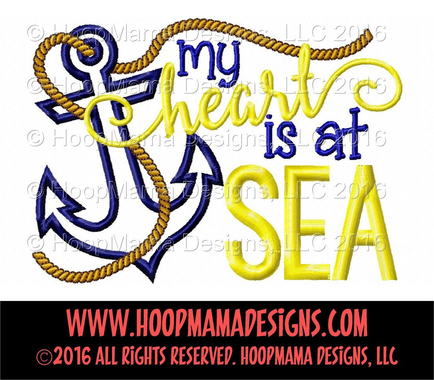 View My Heart Is At Sea Design