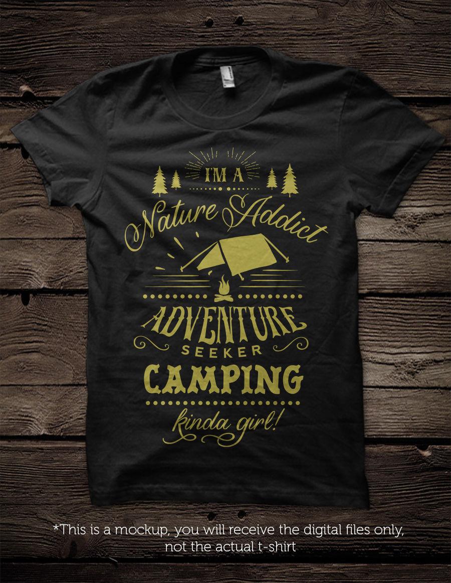 I M A Camping Kinda Girl Guy Svg By Blackcatssvg