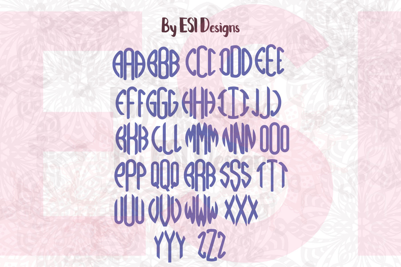 Smooth Circle Monogram Alphabet By Esi Designs Svg Dxf Eps Png By Esi Designs Thehungryjpeg Com