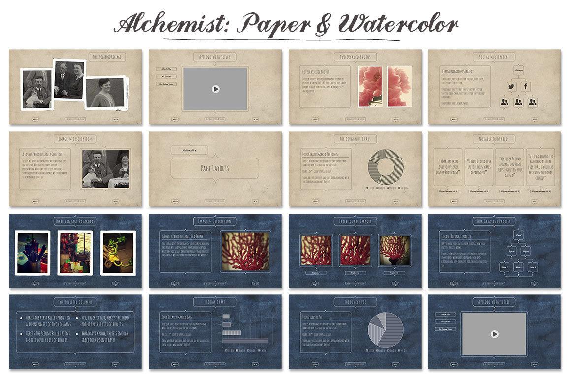 Alchemist Powerpoint Templates By Blixa 6 Studios | TheHungryJPEG com