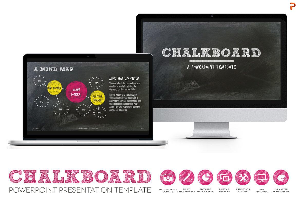 chalkboard ppt presentation template by blixa 6 studios