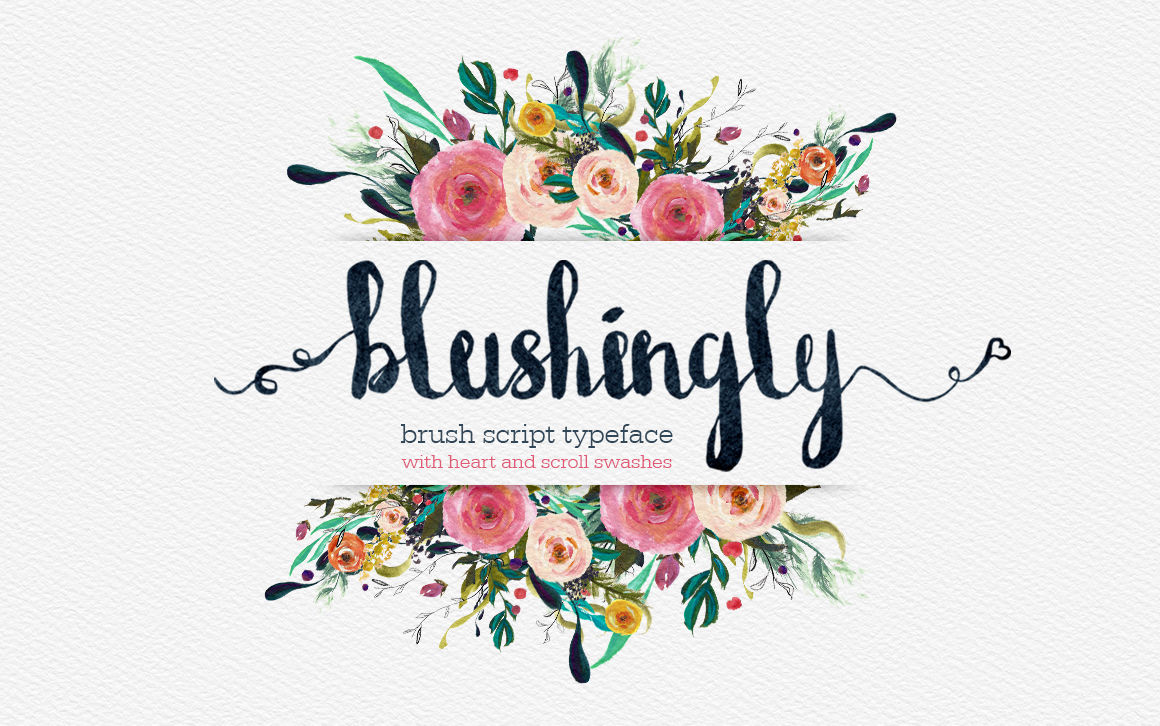 Blushingly Typeface Font By Creativeqube Design
