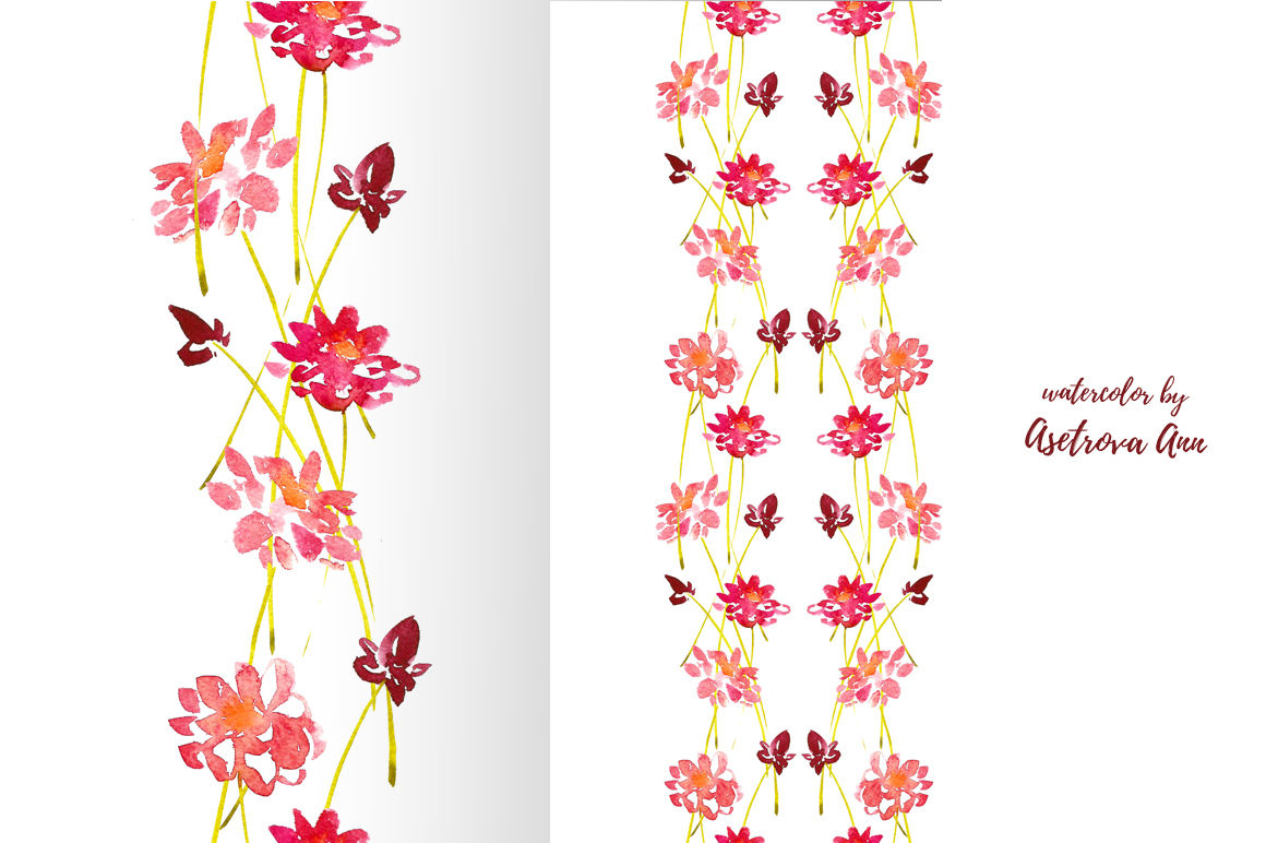Watercolor Flower Background By Astro Ann Thehungryjpeg Com