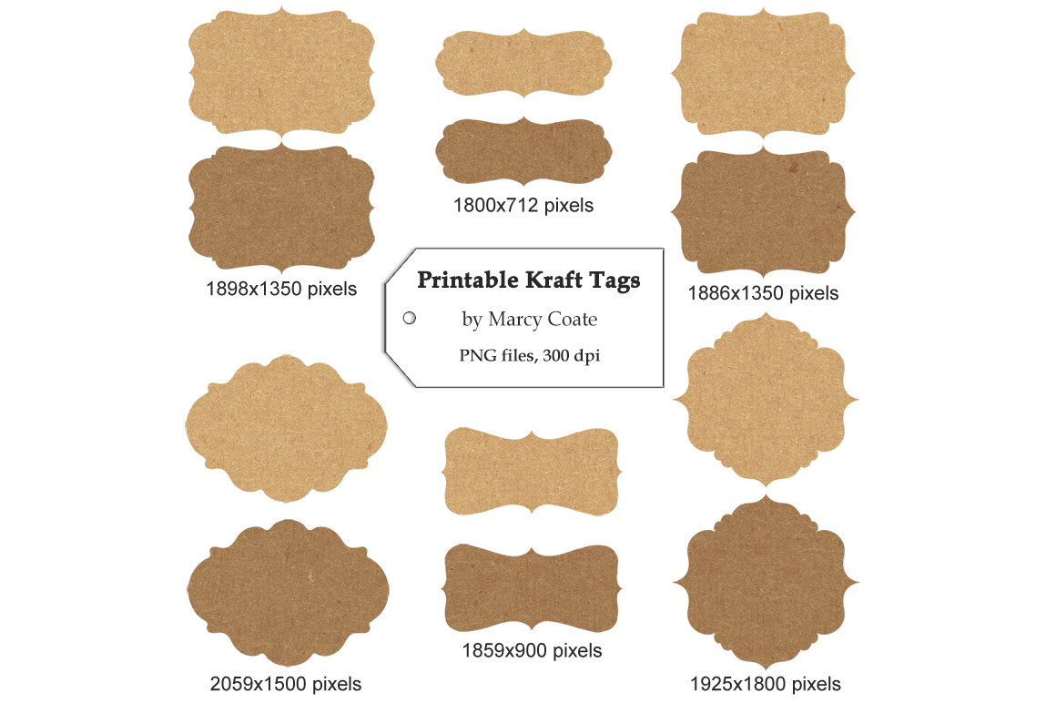 image relating to Printable Kraft Tags called Printable Kraft Tags By means of Marcy Coate