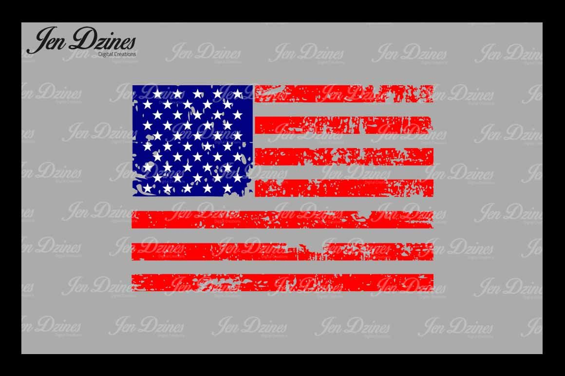 Distressed Flag Svg Dxf Eps Png By Jen Dzines Thehungryjpeg Com