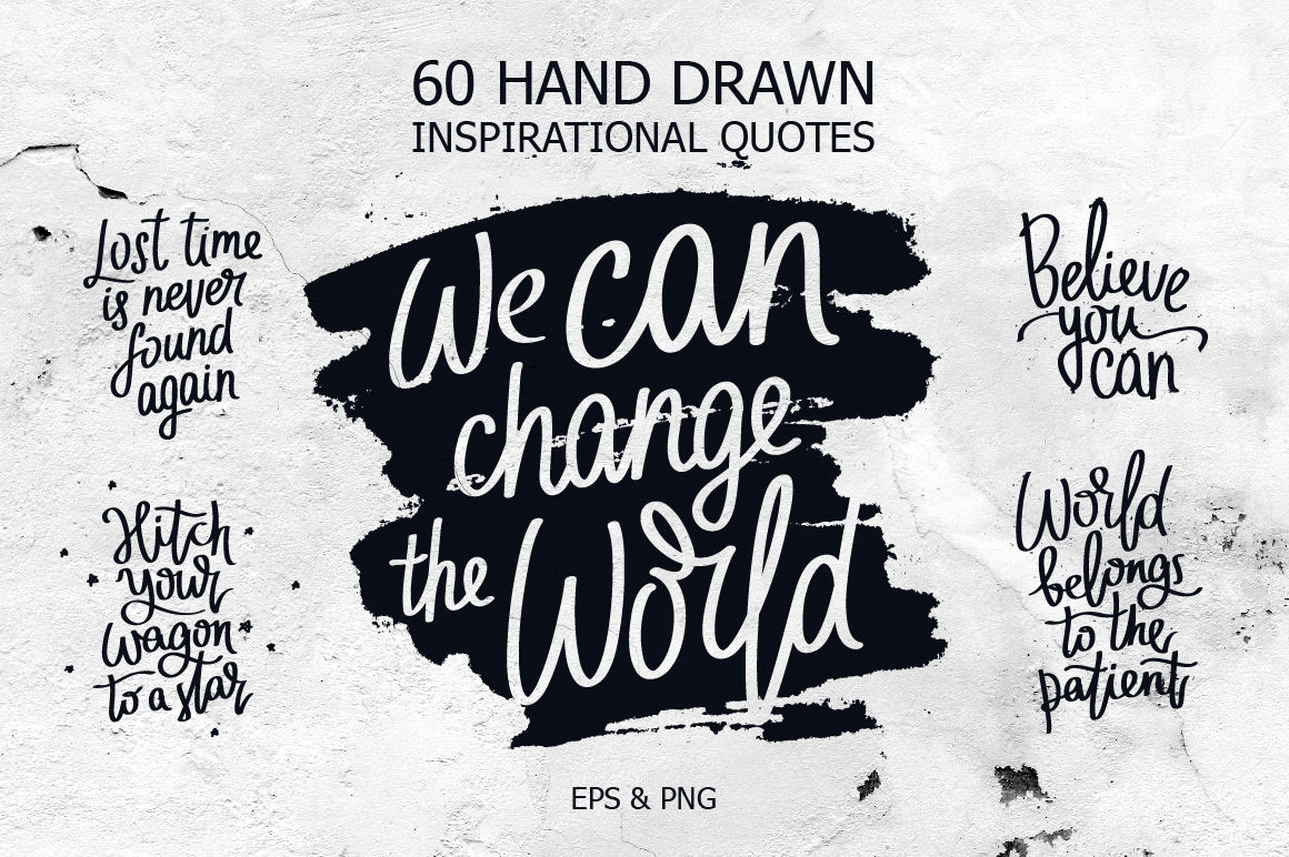60 Inspirational Quotes By Chekart Thehungryjpeg Com
