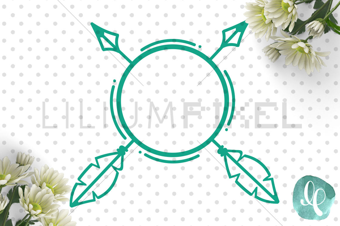 Monogram Arrow Svg Png Dxf Jpeg Cutting File By Lilium Pixel Svg