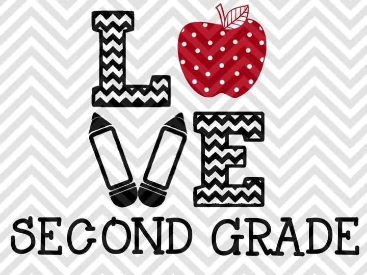 Love Second Grade By Kristin Amanda Designs Svg Cut Files Thehungryjpeg Com