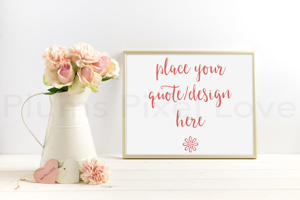 Pretty Styled Stock Floral Mock Up Photograph By Plums Pixel Love