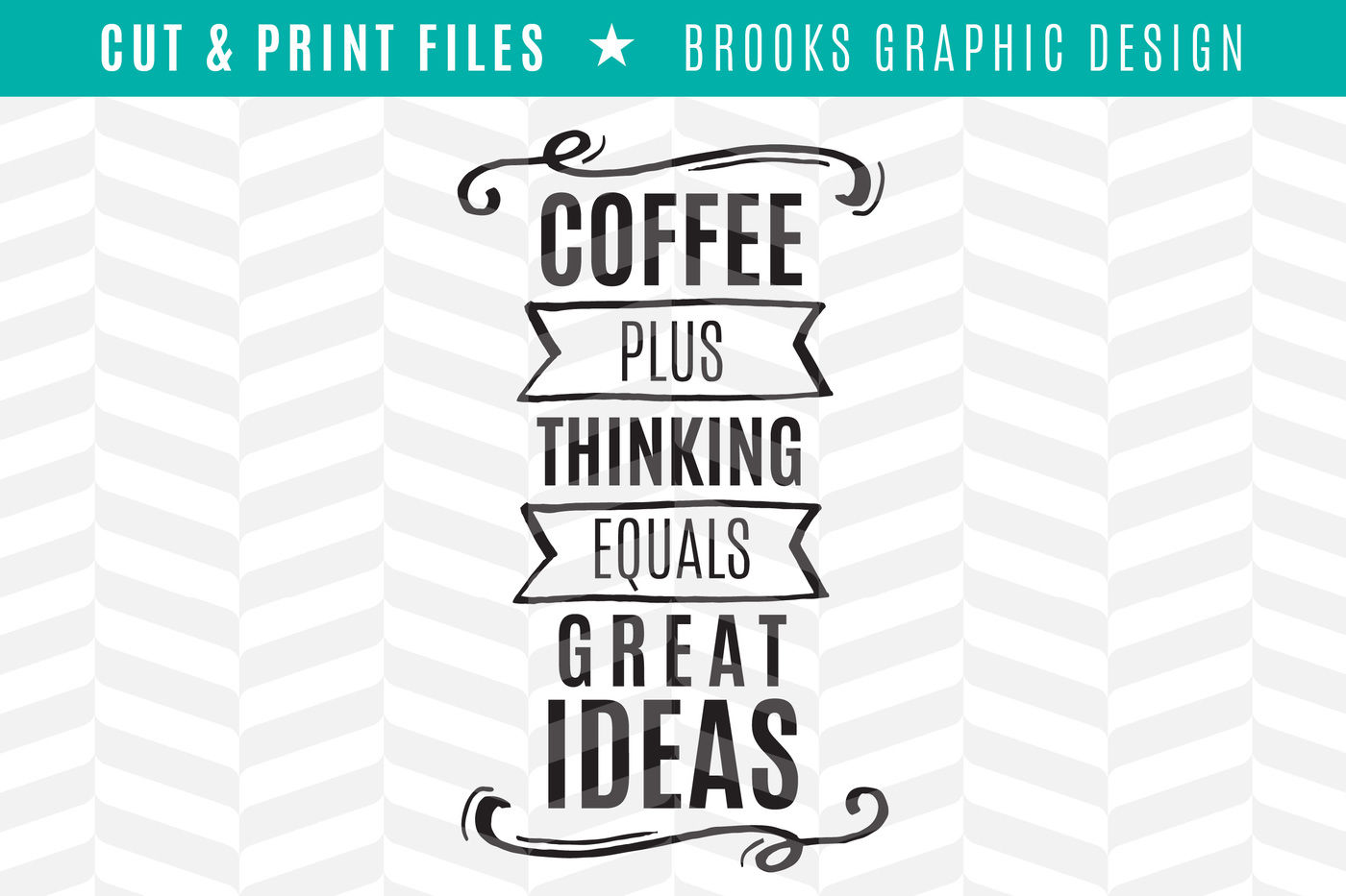 Coffee Plus Thinking Dxf Svg Png Pdf Cut Print Files By Simply
