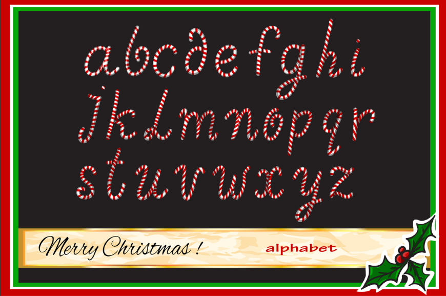 Christmas Candy Alphabet By Alisa Katrevich Thehungryjpeg Com