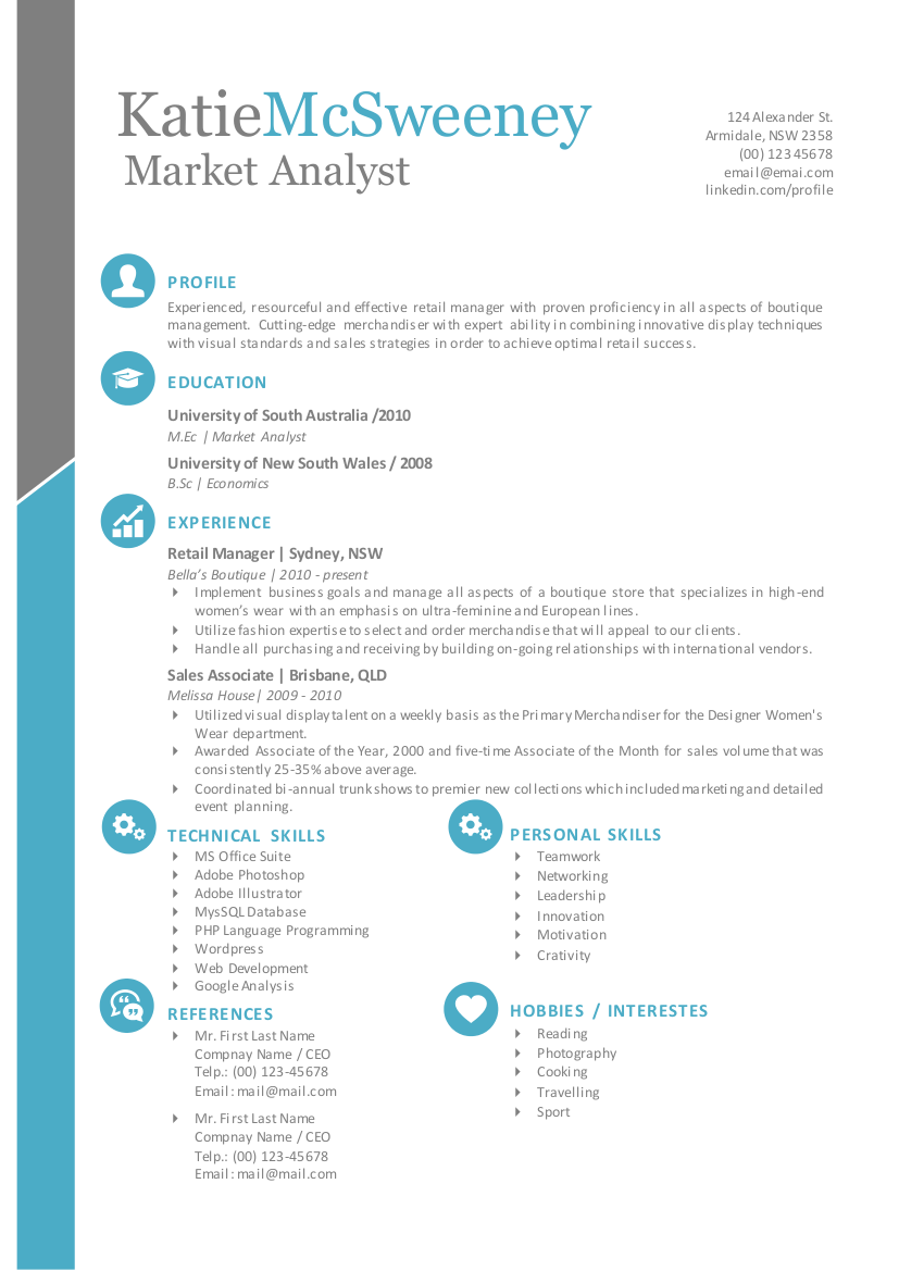 simple easy to edit resume template for ms word by