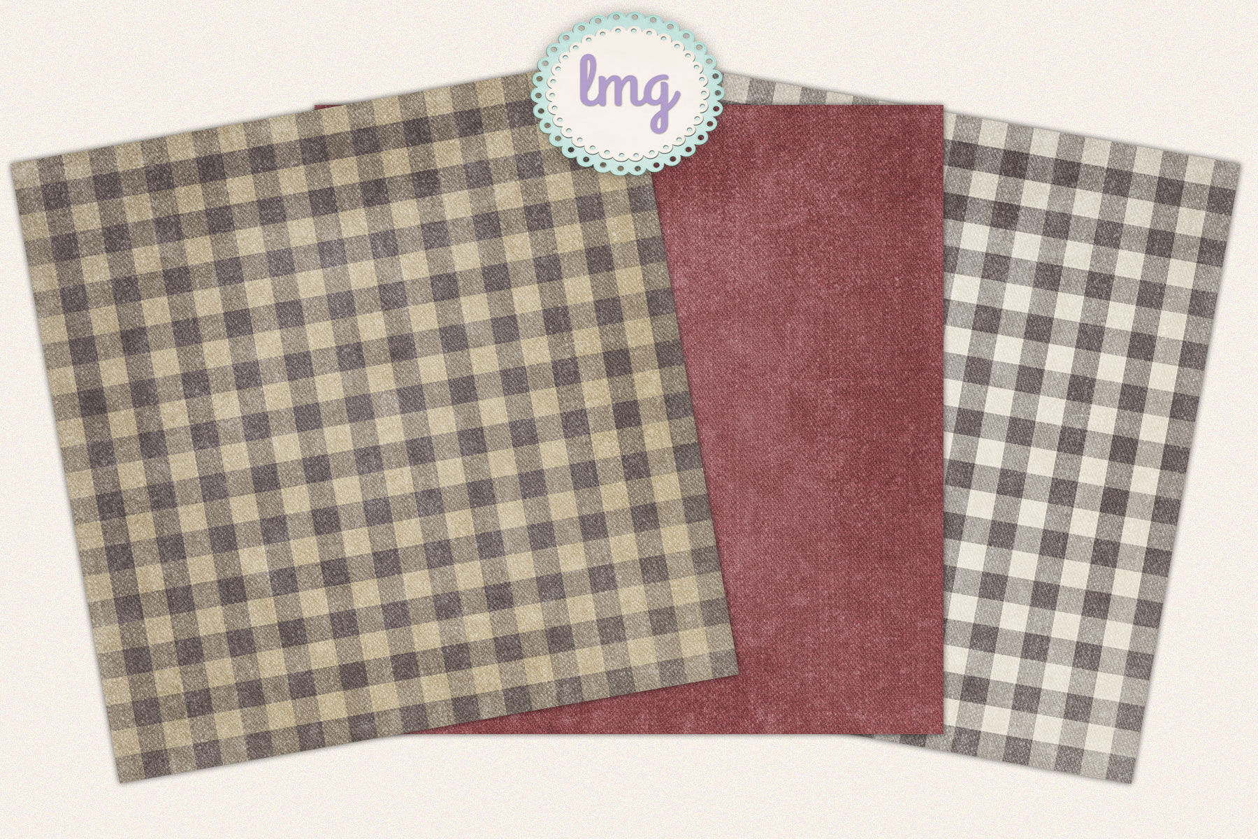 Country Gingham Digital Paper By Lavender Mint Graphics Thehungryjpeg Com