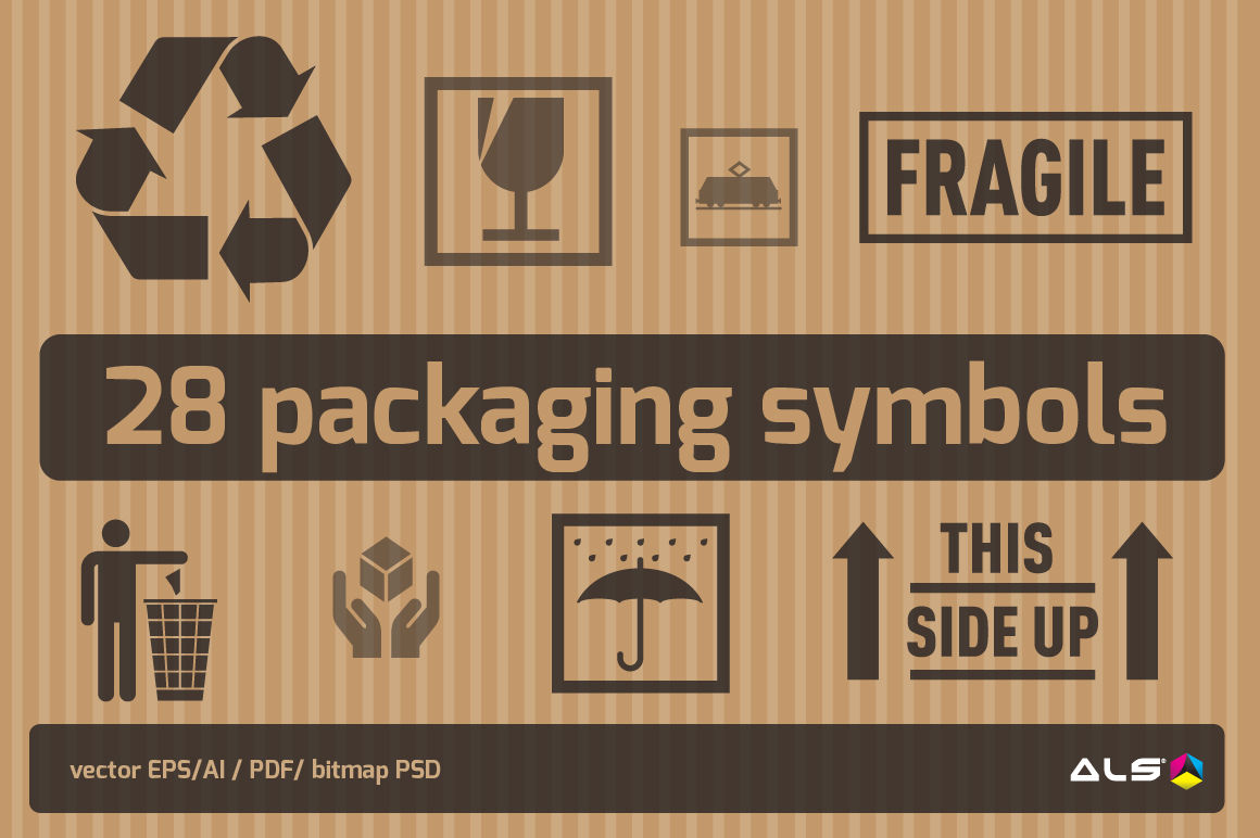 Packaging Symbols By ALS DESIGN | TheHungryJPEG com